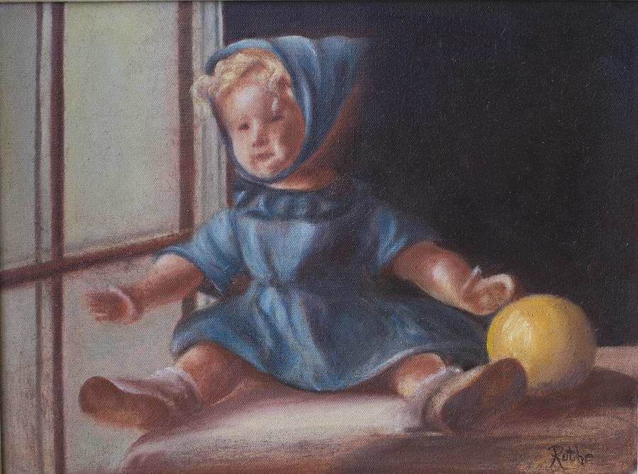 Doll Painting - Window World by Ruthe Dawes