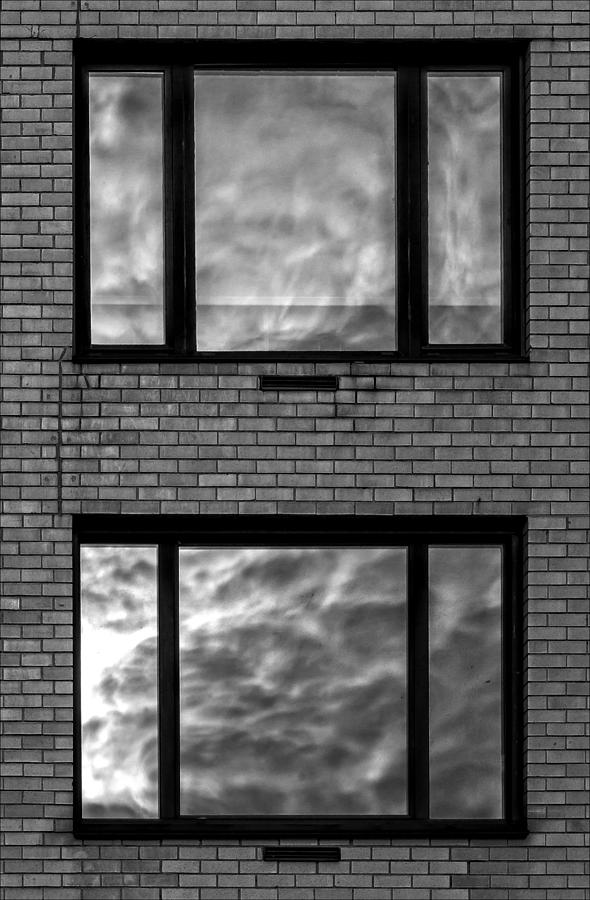 Reflections Photograph - Windows And Clouds by Robert Ullmann