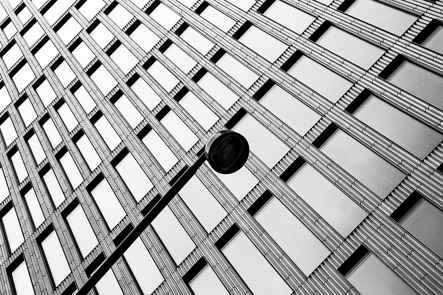 Architecture Photograph - Windows And Lamp by Inge Schuster