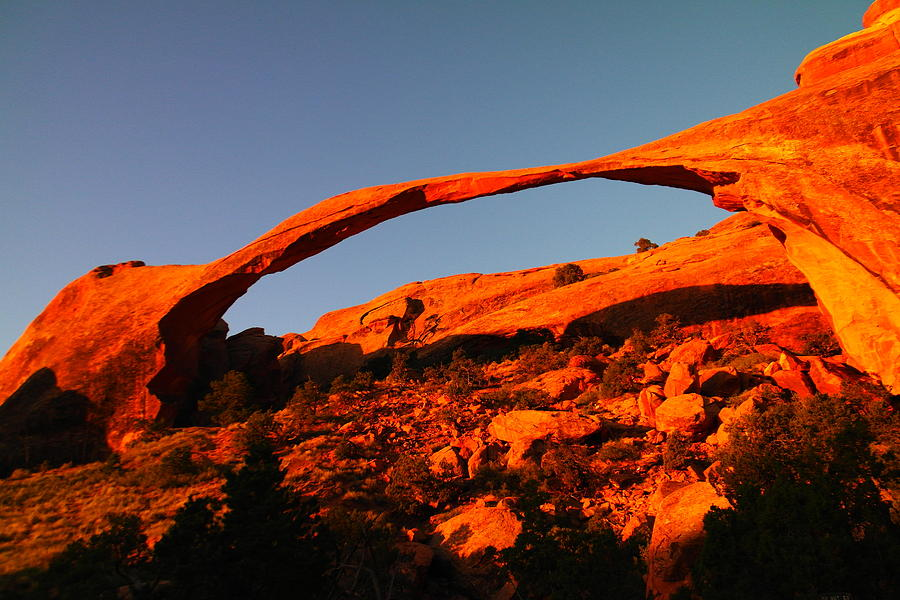 Arches National Park Photograph - Windows Arch In The Morning by Jeff Swan
