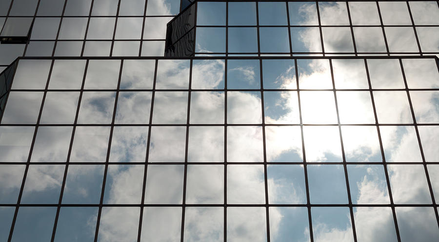 Windows Of Glass Building Photograph by Moniaphoto