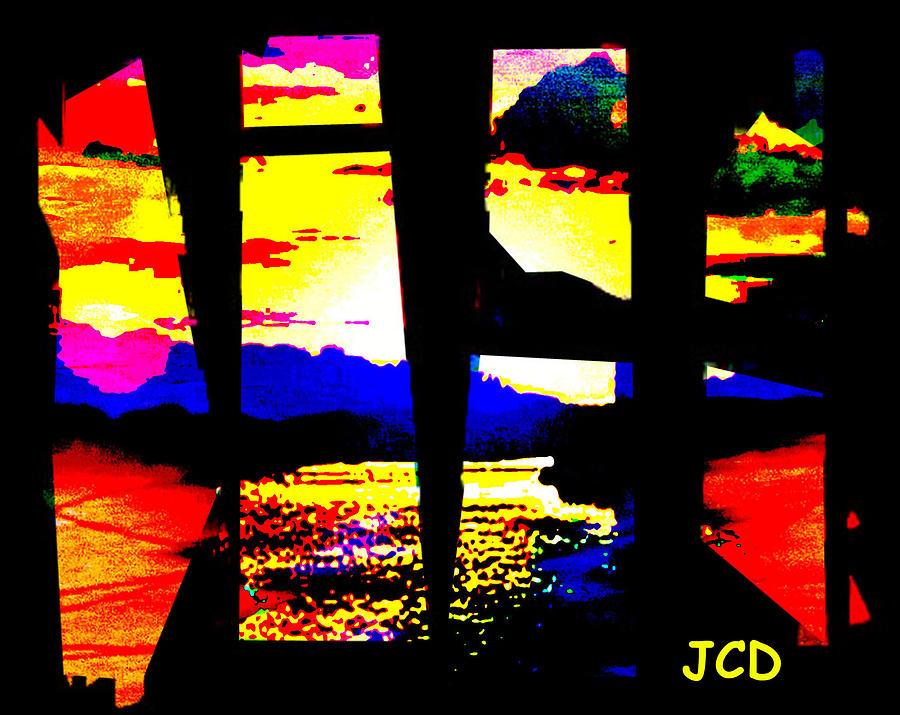 Lanscape Digital Art - Windows On A Wonderful Scenery by Jean-Claude Delhaise