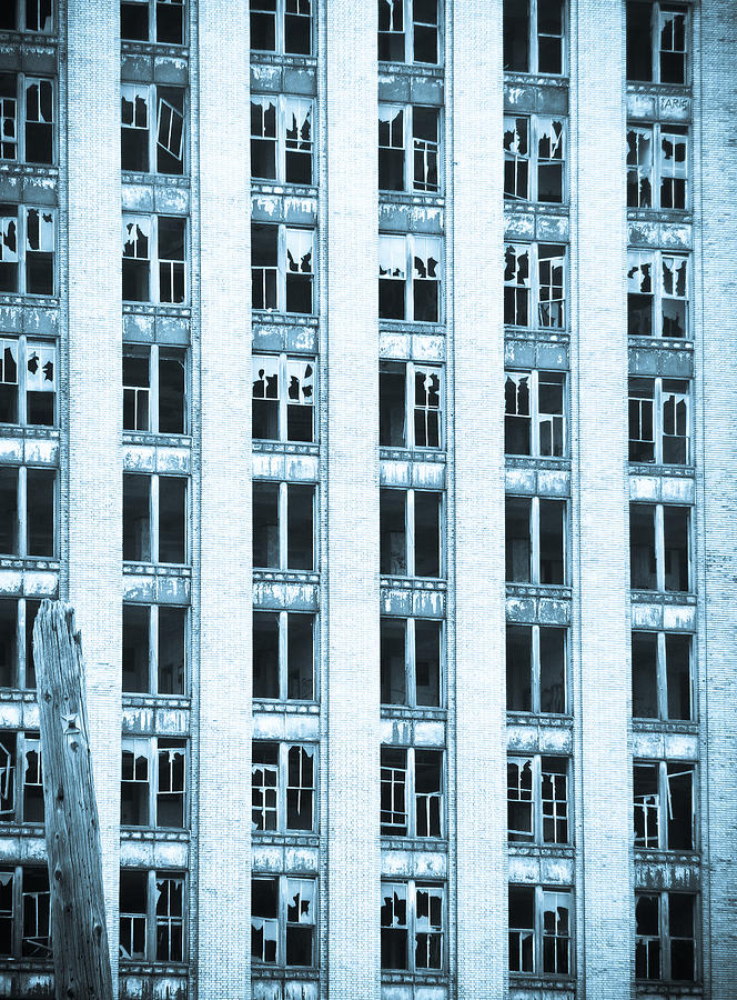 Michigan Central Station Photograph - Windows To The Soul by Priya Ghose