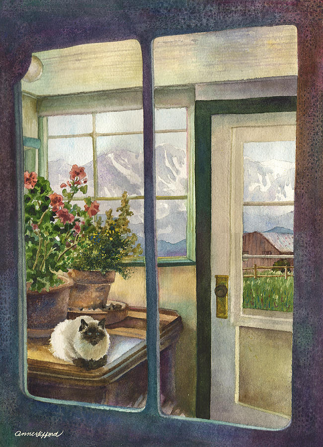 Salida Painting - Windows To The World by Anne Gifford