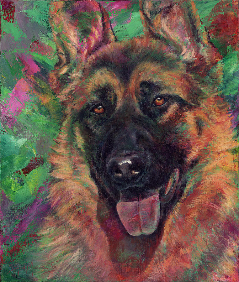 Dog Painting - WindRidges Love by Don Michael Jr