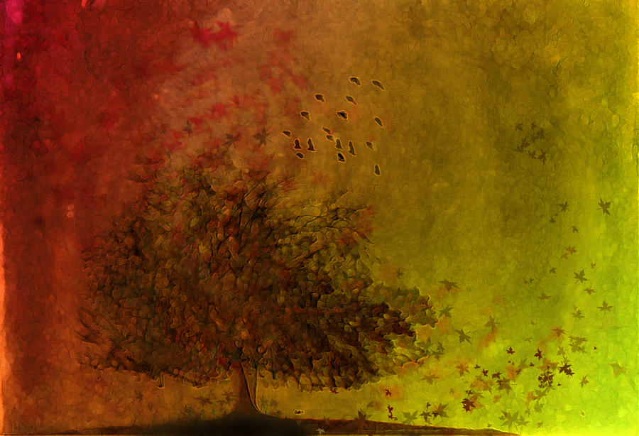 Fall Digital Art - Winds Of Change by Hazel Billingsley