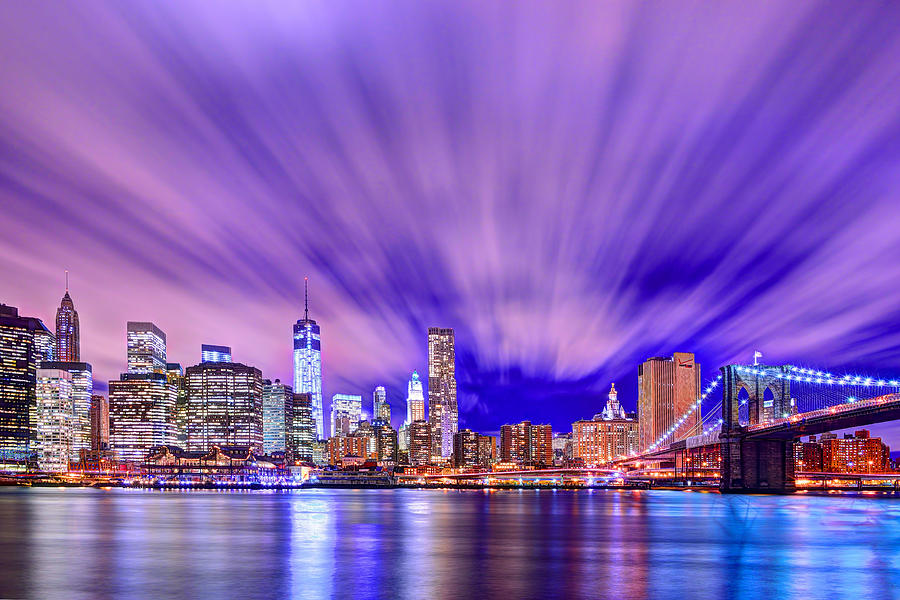 Brooklyn Bridge Photograph - Winds Of Lights by Midori Chan