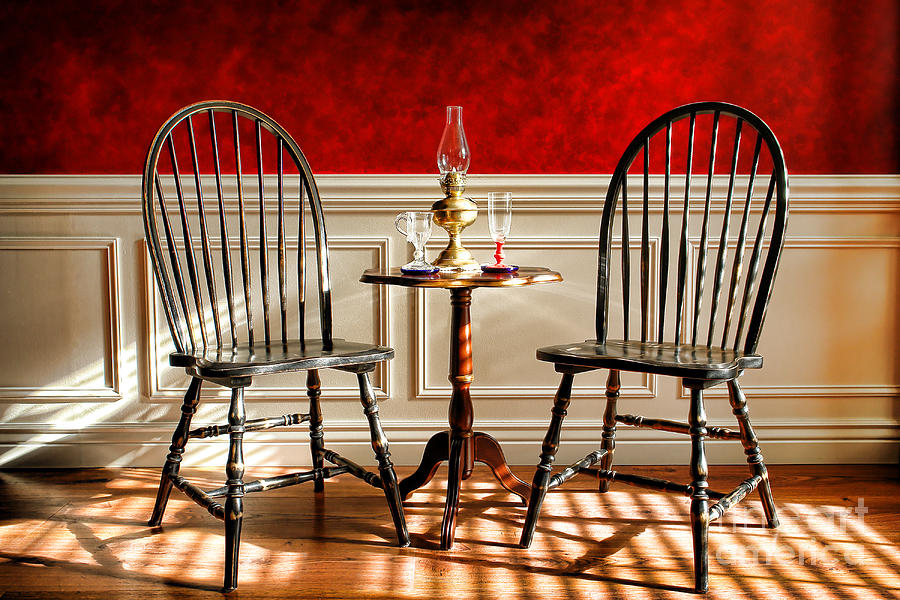 Windsor Photograph - Windsor Chairs by Olivier Le Queinec