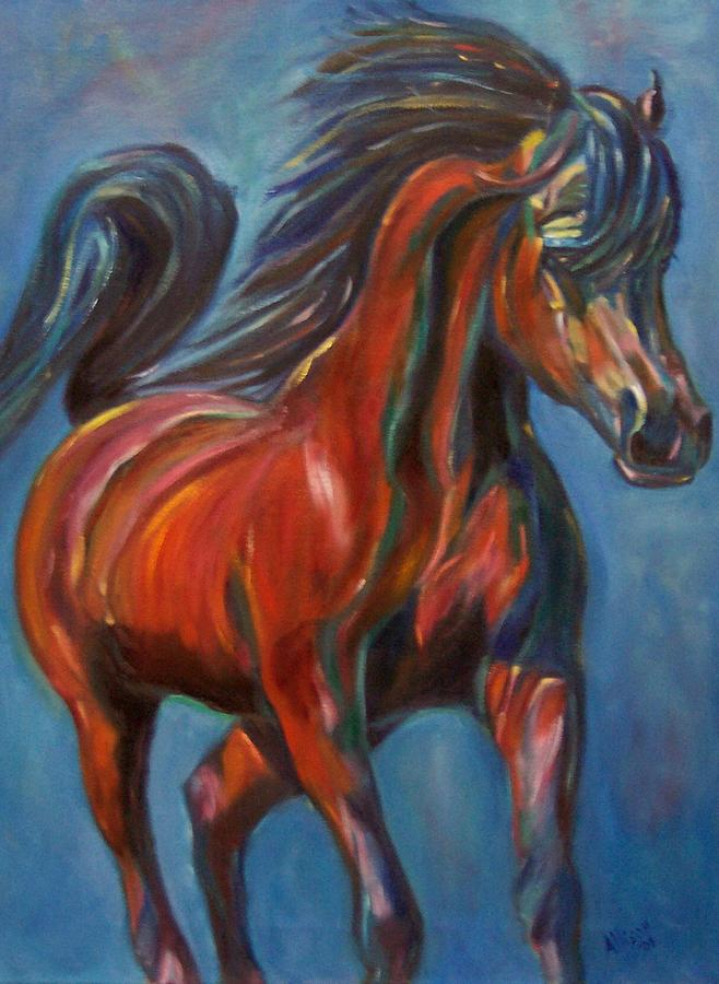 Horse Painting - Windstalker by Stephanie Allison