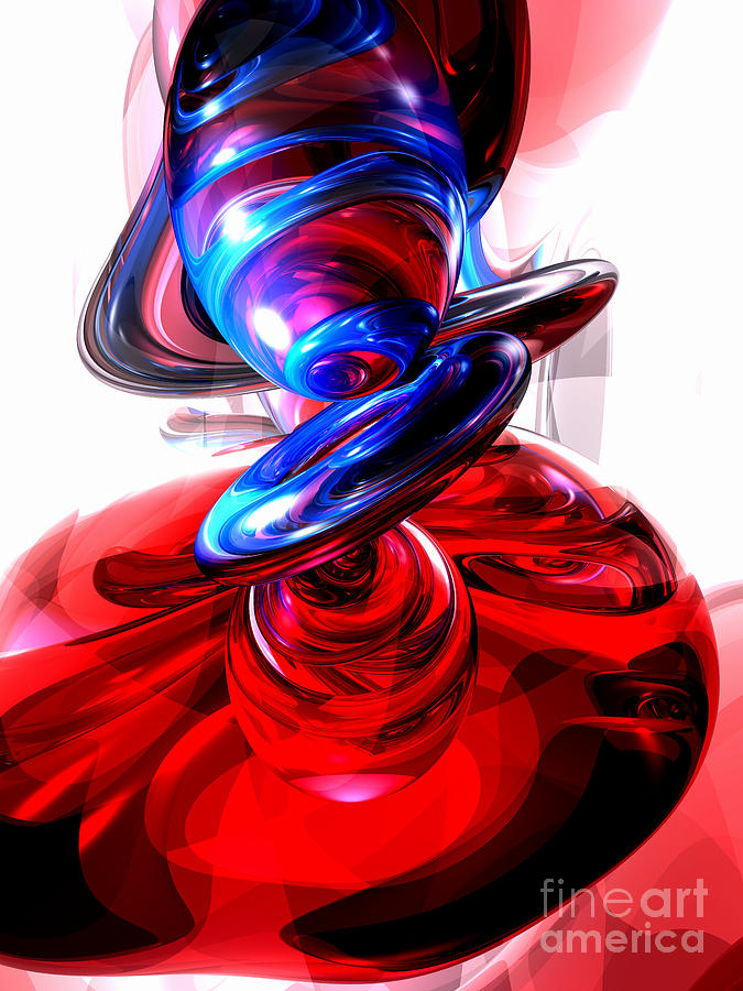 3d Digital Art - Windstorm Abstract by Alexander Butler