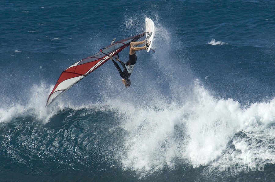 Surf Photograph - Windsurfer Hanging In by Bob Christopher