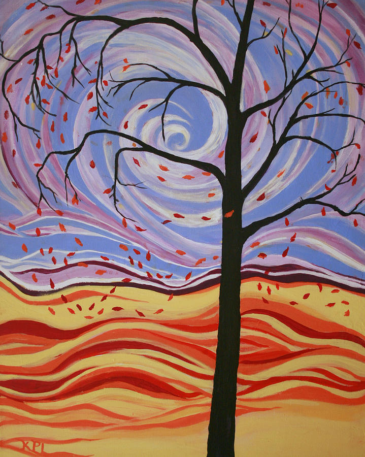 Windy Painting - Windswept by Kathy Peltomaa Lewis