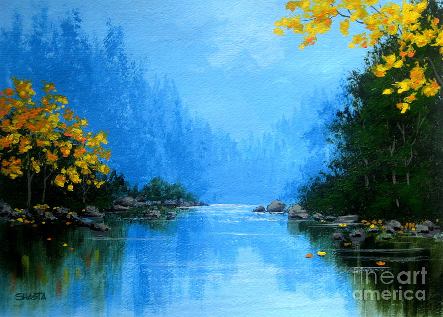 Serenity Scenes Landscapes Painting - Windy  Canyon  by Shasta Eone
