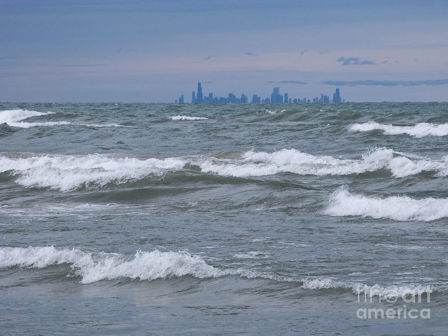 Chicagoland Photograph - Windy City Skyline by Ann Horn