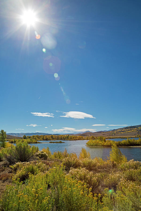 American Photograph - Windy Gap Reservoir by Jim West/science Photo Library