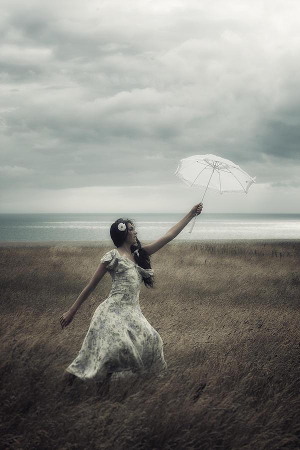 Girl Photograph - Windy by Joana Kruse