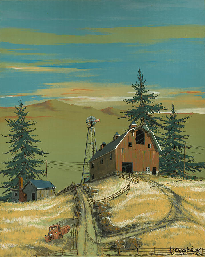 Windy Painting - Windy Knoll by John Wyckoff