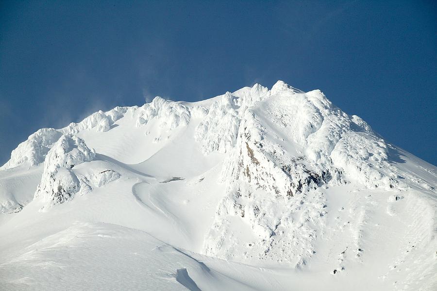 Windy Mountain Snow Peaks Photograph