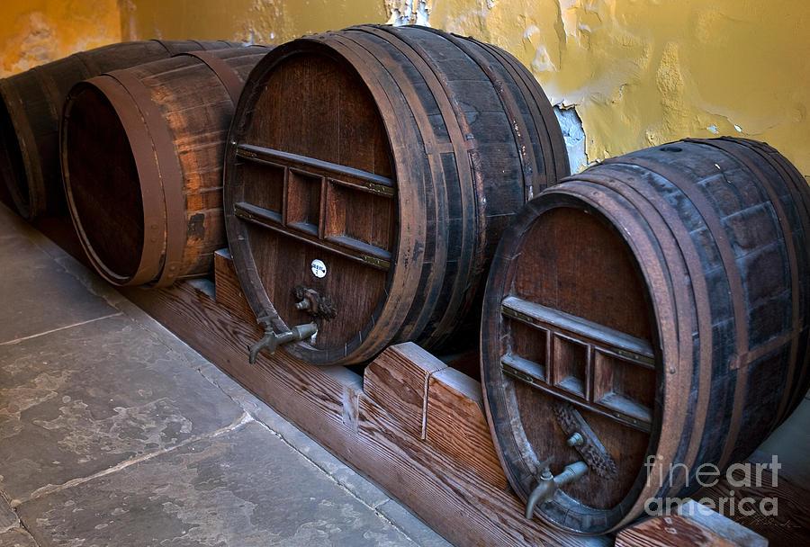Food Photograph - Wine Barrels by Iris Richardson