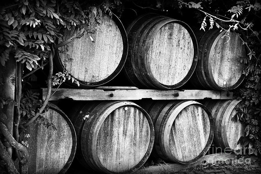Wine Photograph - Wine Barrels by Scott Pellegrin