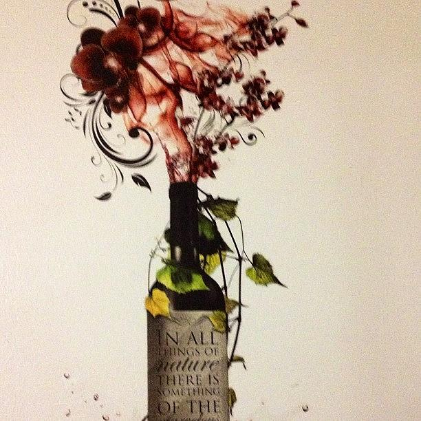 Bottle Photograph - #wine #bottle #homedecor #wallart by Amber Campanaro
