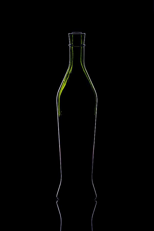 Wine Photograph - Wine Bottle Silhouette by Alex Sukonkin