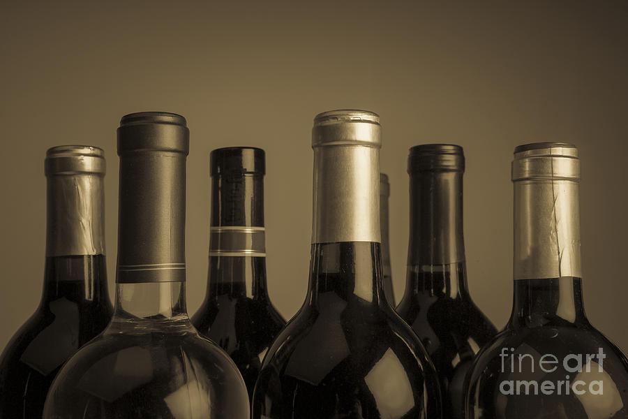 Wine Photograph - Wine Bottles by Diane Diederich
