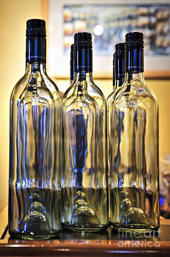 Wine Photograph - Wine Bottles by Elena Elisseeva