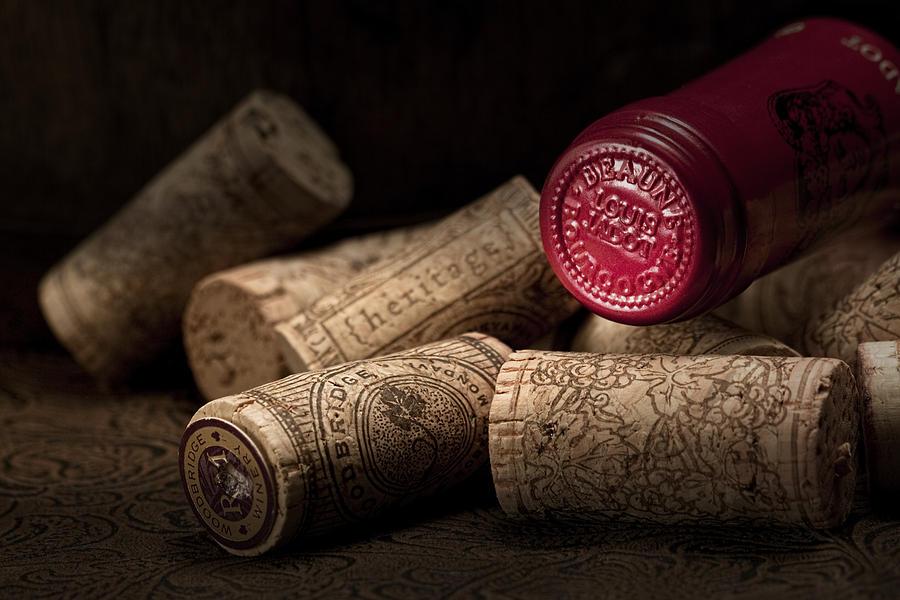 Wine Cork Photograph - Wine Corks Still Life Iv by Tom Mc Nemar