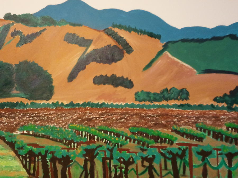 Wine Country Painting - Wine Country  by Kathleen Fitzpatrick