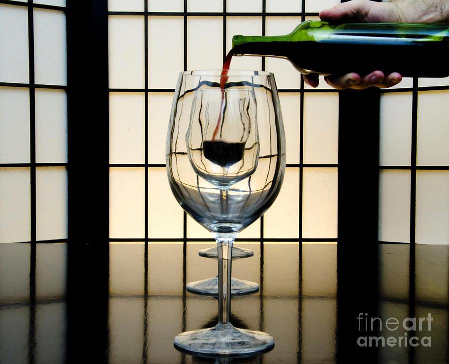 Banquet Photograph - Wine For Three by John Debar