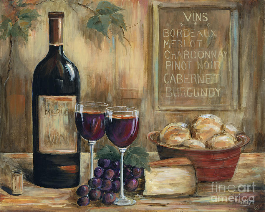 Wine for two painting by marilyn dunlap for Paint vino