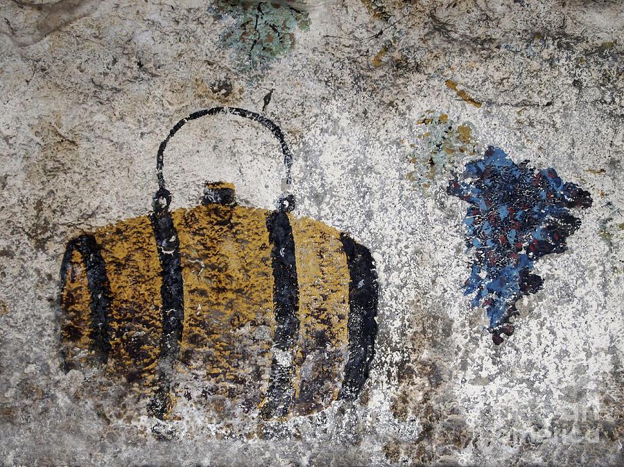 Destruction Photograph - Wine Fresco by Bernard Jaubert