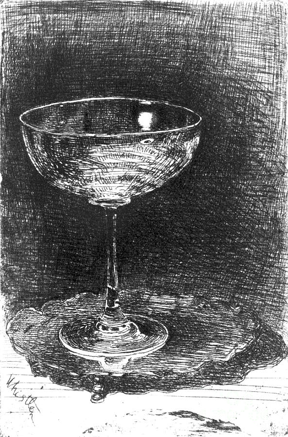 Champagne Glasses Photograph - Wine Glass 1860 by Padre Art