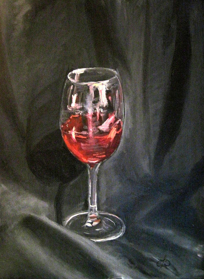 Wine glass painting by claudia croneberger for How to paint a wine glass with acrylics