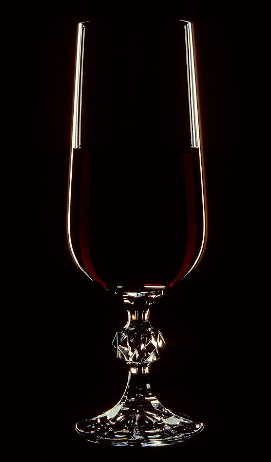 Supper Photograph - Wine Glass by Cyril Furlan