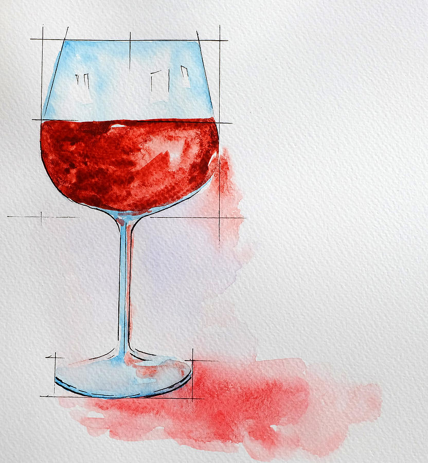 Watercolor Paintings Of Glass Objects