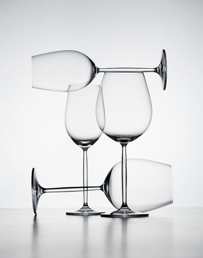 Wine Glasses Photograph by Jorg Greuel