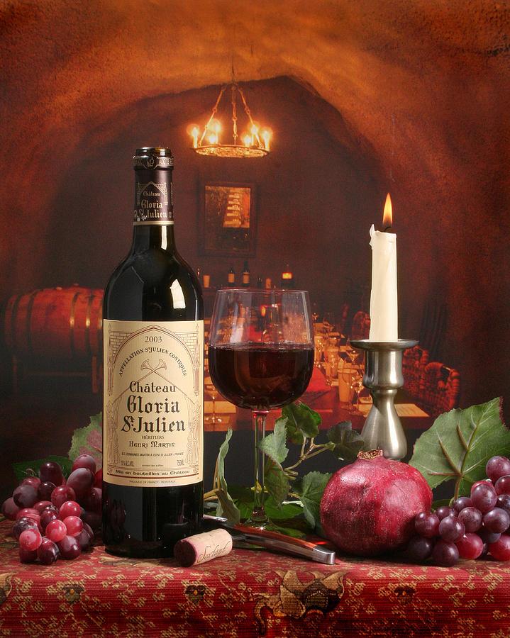 Wine Photograph - Wine In Le Cav by Mel Felix