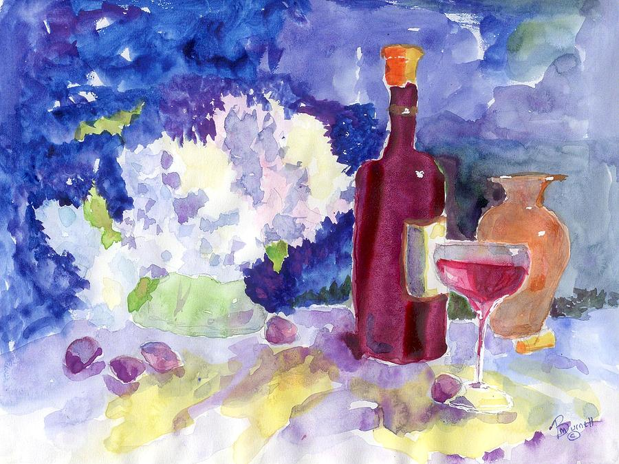 Still Life Painting - Wine - No Cheese by Marsden Burnell