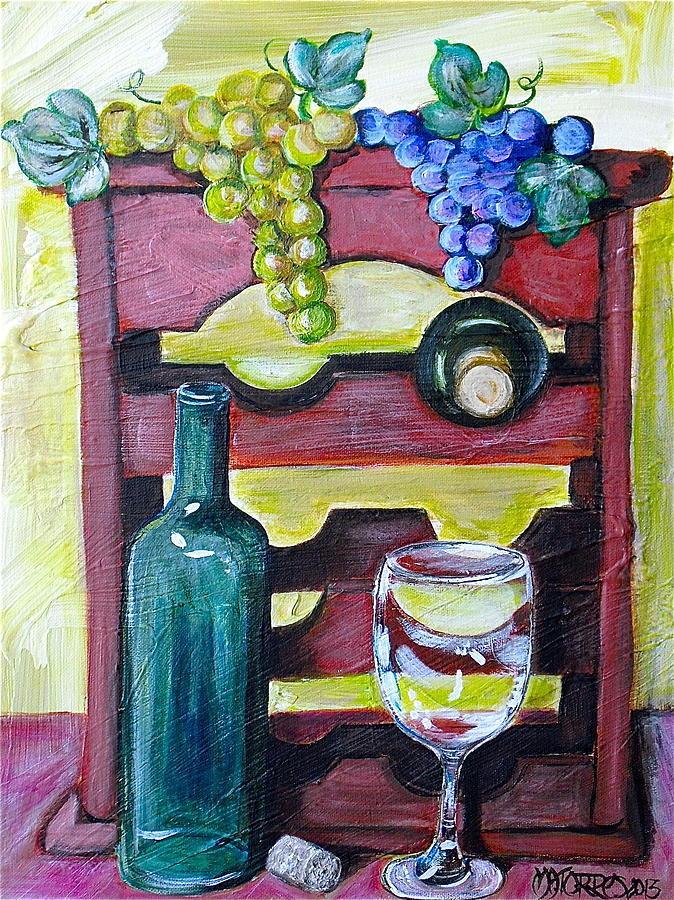 Wine Painting - Wine Rack  by Melissa Torres