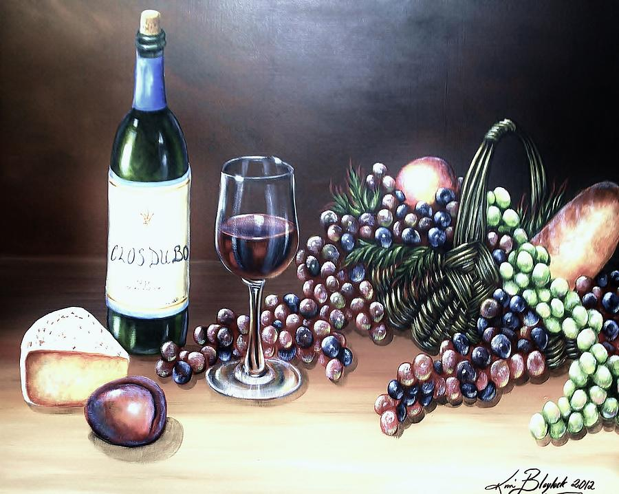 Wine Painting - Wine Time by Kimberly Blaylock