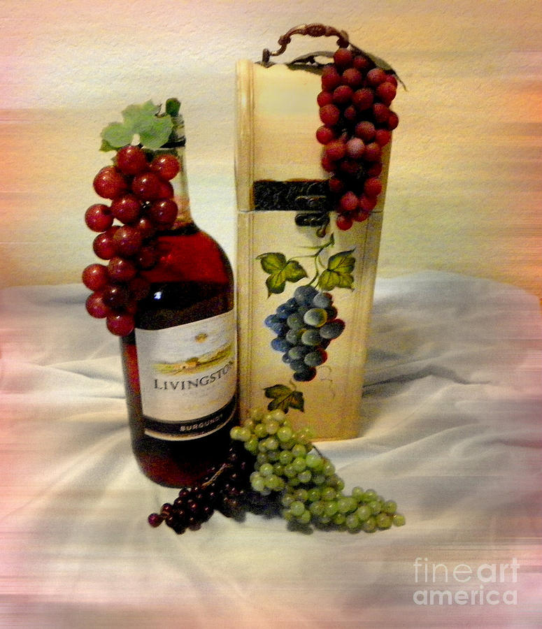 Still Life Photograph - Wine To Be Enjoyed by Carol Grenier