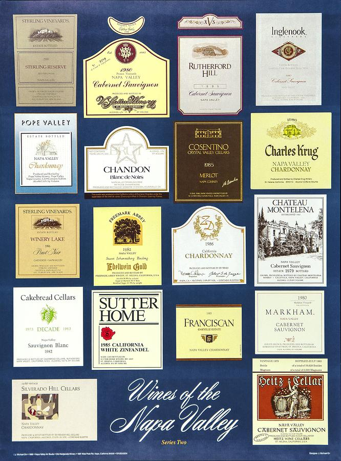 Poster Photograph - Wines Of The Napa Valley - Series 2 by J Michael Orr