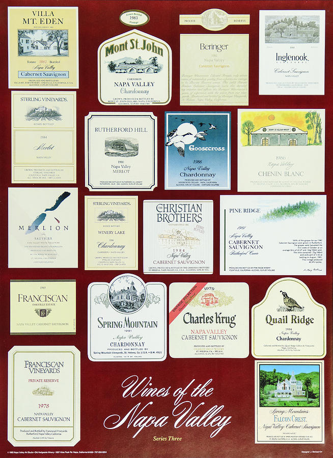 Poster Photograph - Wines Of The Napa Valley - Series 3 by J Michael Orr
