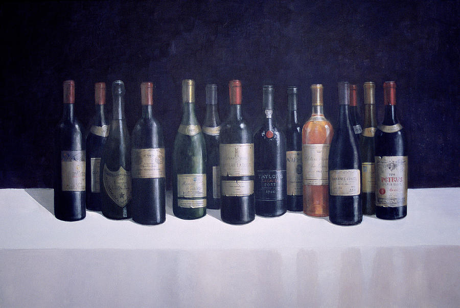 Wines Painting - Winescape by Lincoln Seligman