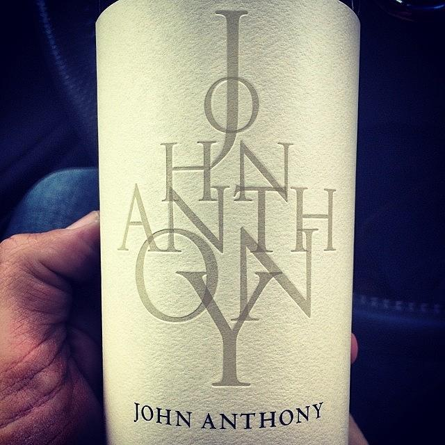 Foodandwine Photograph - #winesnob #johnanthony #wine by Tony Sinisgalli