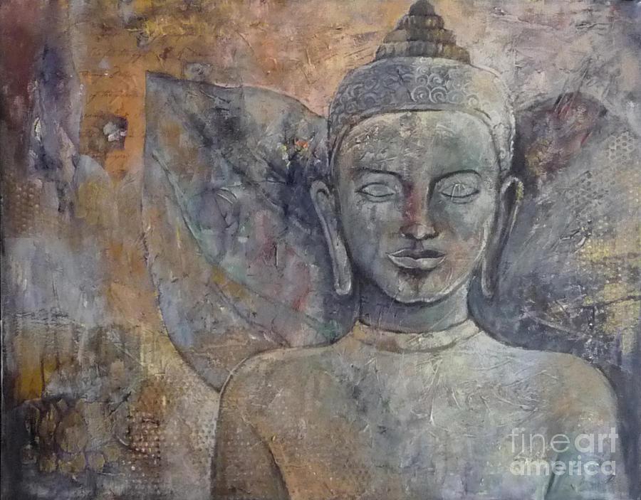 Buddha Painting - Winged Buddha by Paulina Garoa