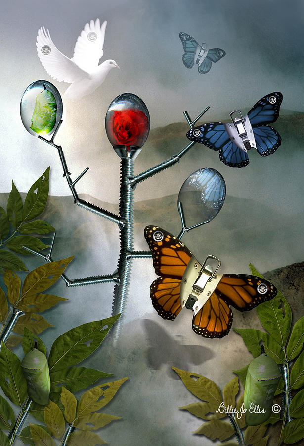 Butterflies Digital Art - Winged Metamorphose by Billie Jo Ellis