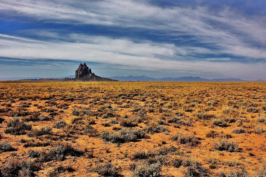 Shiprock Photograph - Winged Rock by Benjamin Yeager